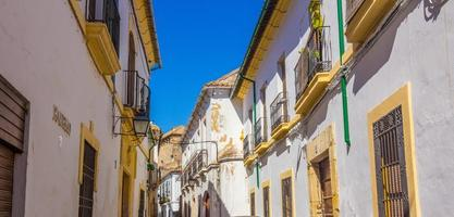 whitewashed houses along the streets of the city Corodoba, spain