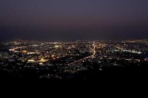 chiang mai night view on view point, thailand