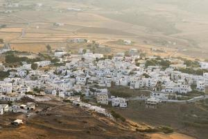 View of local village in Paros island in Greece.