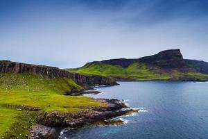 Mountains and ocean in Neist Point, isle of Skye, Scotland