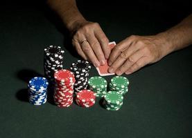 Casino poker table concept photo