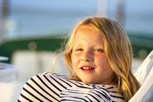 blonde girl on an italian yacht
