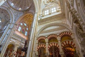 Christian area mixed with Islam in the mosque of Cordoba, photo