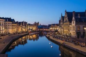 Travel Ghent Town in Belgium. photo