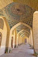 Nasir al-Mulk Mosque arcade hall vertical photo