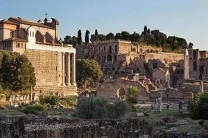 Forum of acient Rome, Italy photo