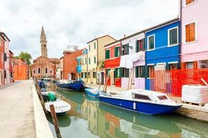 The island of Burano. Italy