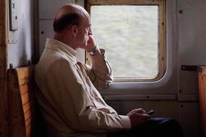 pasajero en tren