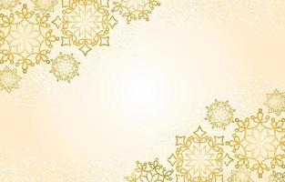 Winter Background with Sparkling Gold Snowflakes vector