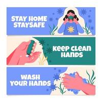 Stay Healthy and Clean During Pandemic vector