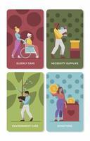 Humanitarian Volunteer Selfless Act vector