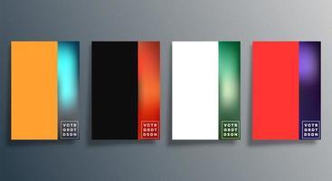 Set of abstract gradient design vector