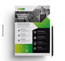 Abstract Green Flyer Template vector