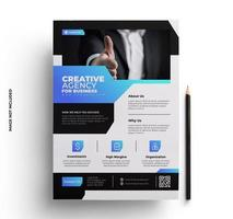 Abstract Corporate Flyer Template vector
