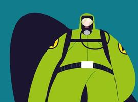 Man in protective suit, safety clothing