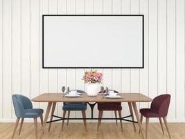 Dining room 3D interior background