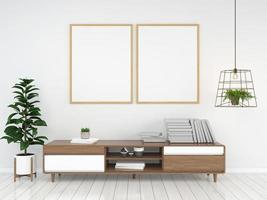 Living room interior 3D rendered background