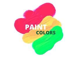 Paint colors vector design