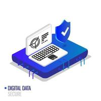 Digital data secure isometric design