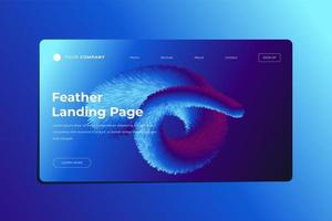 Feathered Abstract Shape Blue Toned Landing Page