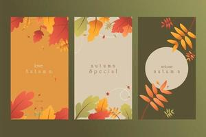 Gradient Design Autumn Banners Set