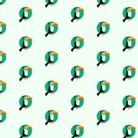 Cute horn bills pattern vector