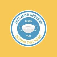 Circle face mask required design vector