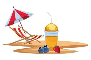 Smoothie drink composition outdoors vector