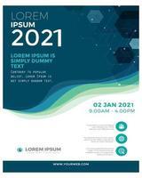 Modern design business leaflet in blue and green vector