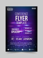 Brochure design flyer template technology conference vector
