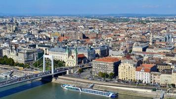 Aerial view of Budapest city