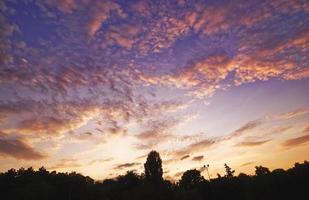 Cloudy sky during evening sunset
