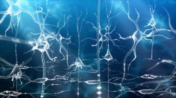 activité neuronale zoom bleu video