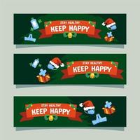 Christmas Banner Stay Healthy vector