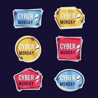 Cyber Monday Label Sticker Collection vector