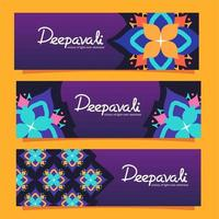 Deepavali Motives Banner vector