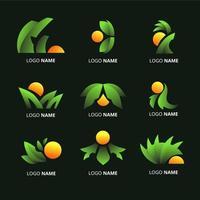 logotipo abstracto de vibraciones tropicales