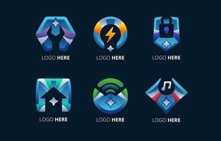 conjunto de logotipos de tecnología futura