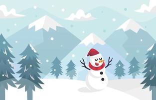 Winter Season Background vector