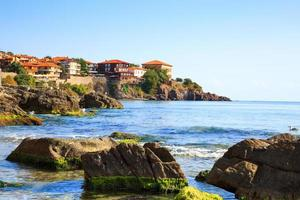 View to the old town of Sozopol, Bulgaria photo