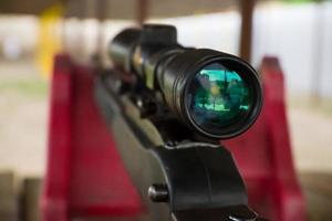 Rifle Scope on AR 22 Rifle photo