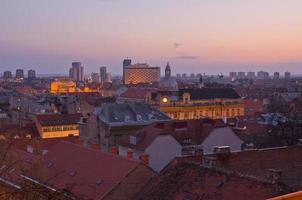 paisagem urbana de zagreb, croácia