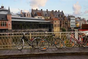 Scene in old town, Ghent photo