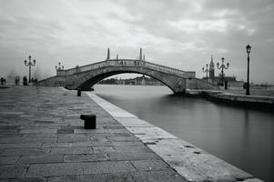 Black and white photo Venice canal