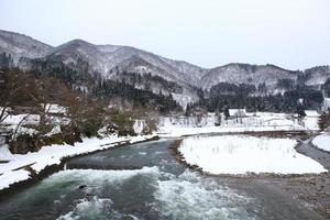 River at Gassho-zukuri Village/Shirakawago
