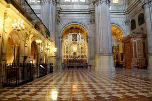 The interior Cathedral of Malaga-- Andalusia, southern Spain.