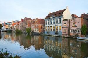 Buildings With Canal In Ghent photo