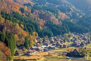 Japan-aerial view of Shirakawa-Go