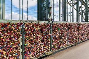 Hohenzollern Bridge with Love Locks in cologne
