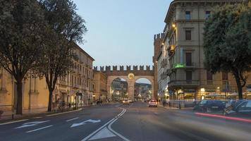Verona at summer evening photo